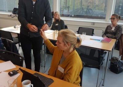 Bjarne Dammsbo og en af kursisterne