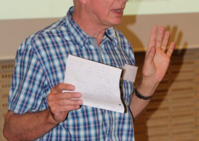 Hermann Christmann har været med til at arrangere Workshoppe - fortæller om dagens program